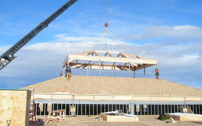 Hope Lutheran Church Cupola Schafer Construction Bozeman Montana